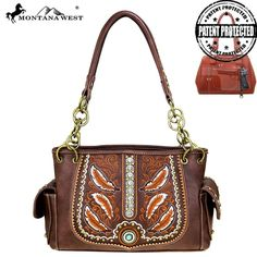 Montana West Feathers Concealed Carry Satchel