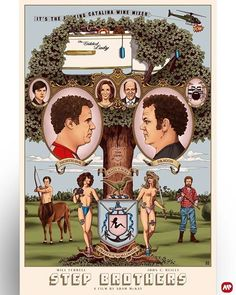Step Brothers x Best Movie Posters, Classic Movie Posters, Movie Poster Art, Art Posters, Wine Mixers, Fawlty Towers, Step Brothers, Dragon Boat, Alternative Movie Posters