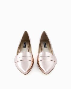 Kali Loafers, the perfect mix of blush pink and metallic
