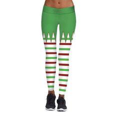 5b9b700627a67 Christmas Leggings - Women 3D Xmas Theme Workout Stripe Legging Women's  Sports Leggings, Best Leggings