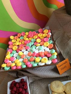 Homemade mints, colorful mints, party food