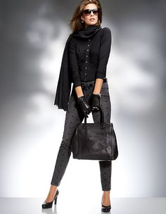 Jersey blouse with ruffles MADELEINE fashion
