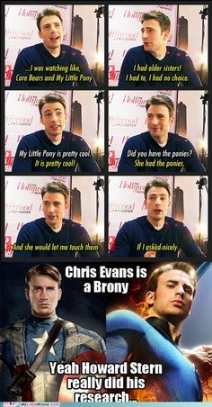 Chris Evans is a Brony