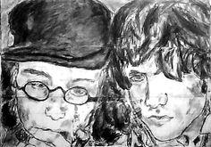 Very old #Drawing 2005:) #oldschool #memories #blackandwhite #art with Finian de Schepper