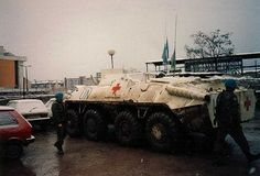 медицинский БТР ВСУ ukrbat-1 Sarajevo 1992