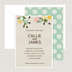 Wedding Invitation - Contact LM Design for custom invitation design and printing!  www.LMDesign.co