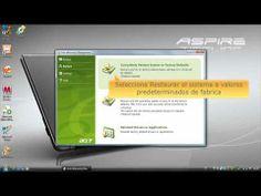 En esta ocasión presentamos un video tutorial oficial de Acer de como usar Acer eRecovery para restaurar el sistema a valores predeterminados de fabrica en equipos portátiles Acer.