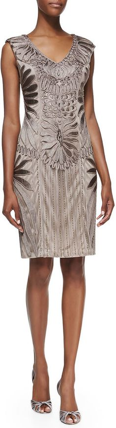 Sue Wong Sleeveless Embroidered Cocktail Dress on shopstyle.com