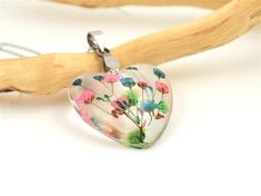 Real Flower Necklace Pressed Flower resin jewelry Botanical