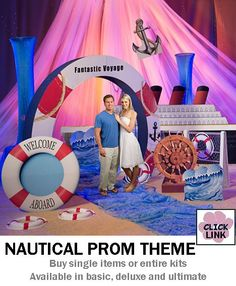 Buy Nautical themed decorations for proms, homecoming dances and other party events.  Available by the piece or as kits.  Basic kit starts at $399.00