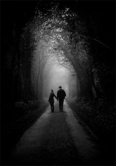 Walking together into the unknown... life is such an adventure with you, my love.