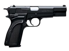 Browning Hi-Power, on my bucket list. I used to own one and sold it years ago to pay bills. I have regretted it ever since.