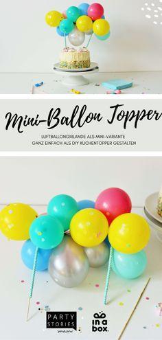 """Kuchentopper, auch bekannt als sogenannte """"Caketopper"""" sind immer eine super Idee! Warum? Na, weil sie einfach jeden Kuchen und jede Torte nochmal so richtig viel Pepp verleihen, ist doch klar! #freebie #freedownload #diyanleitung #caketopper #einschulung Party Box, Diy Party, Diy Cake Topper, Cake Toppers, Party Decoration, Super, Mini, Food, Dekoration"""