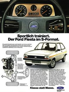 Ford Fiesta I Sportlich Ford Fiesta Mk1, Automobile, Psa Peugeot, Reliable Cars, Ad Car, Aston Martin, Ford Classic Cars, Old Fords, Subaru