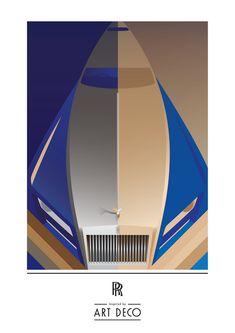 Rolls-Royce Art Deco Poster
