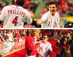 Josh Hutcherson at the Reds game!!! <3