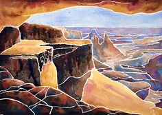 I have painted Mesa Arch in this new experimental watercolor method several times. The scene is a short hike in Canyonlands National Park in Utah, USA. Old West, World History, Paintings For Sale, Wyoming, Over The Years, Original Art, Arch, Museum, Watercolor
