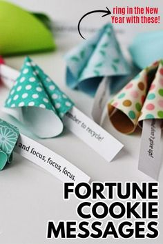 Paper fortune cookie messages are perfect for New Year's, birthday parties, Valentine's Day & other holidays. Paper fortune cookie messages are fun to make! #fortunecookie #newyears #newyearseve #nye #nyeparty #2020 #valentinesday #craftsbyamanda