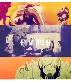 """He's my brother"" #FullMetalAlchemist #anime"