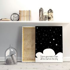 Gender neutral Nursery art I love you more by aTypeOfInspiration