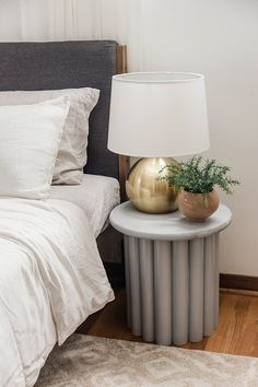See What We Used to Create This Copycat Ribbed Side Table Upcycled Home Decor, Diy Home Decor, Felt Tip Markers, Sides For Ribs, Pvc Pipe, Dresser As Nightstand, Interior Design Inspiration, Home Projects, Copycat