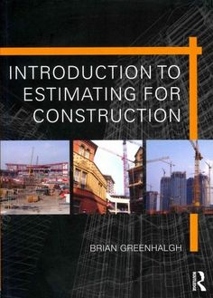 Students and professionals encountering estimating for the first time need an approachable introduction to its principles and techniques, which is up to date with current practice. Introduction to Est