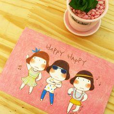 miss smile postcard 03 - 미스스마일, 디자인문구, 편지/카드, 엽서, 디자인엽서