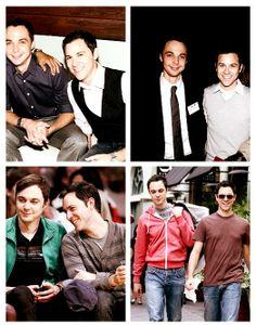"""Sheldon Cooper"" and boyfriend. His boyfriend is cute(:"
