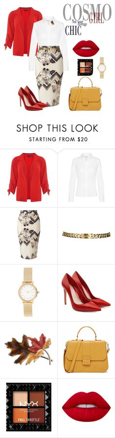 """""""Be Bold, Be A CosmoGirl"""" by missamandapmoss ❤ liked on Polyvore featuring Dorothy Perkins, Miss Selfridge, Chanel, Skagen, Alexander McQueen, Anne Klein and Lime Crime"""