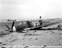 A Republic P-47D crashed at Saint-Aubin-sur-mer in the Sword Beach landing sector of the D-Day invasion (July 2, 1944)