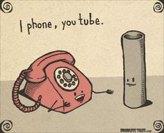 I phone, you tube. Funny, humor :D Social Media Humor, Tech Humor, Funny Commercials, Humor Grafico, Cute Comics, Just For Laughs, Haha Funny, Funny Stuff, Funny Ads