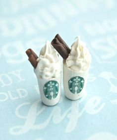 It's official. Have now seen everything: starbucks stud earrings #coffee