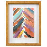 "Framed Watercolor Weave (11""x14"