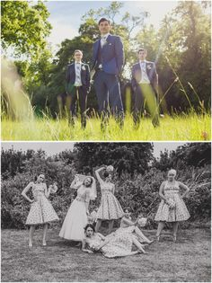 Image 1: Groom and his groomsmen, Lartington Hall  Image 2: Bride and her bridesmaid, crazy, quirky.  I loved this wedding so much.  www.pauljosephphotography.co.uk