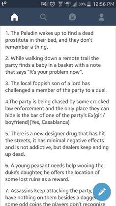 Adventure ideas...