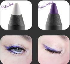 Purple and white eyeliner. Long-lasting.  smudge-proof.