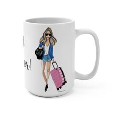 Road Warrior Fashion Illustration Mug Birthday Gifts For Best Friend, Gifts For Friends, Gifts For Her, Your Best Friend, Best Friends, Dorm Door Decorations, Warrior Fashion, Airport Chic, Yoga Gifts