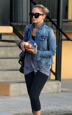 Nicole Richie in Paige Premium Denim Vermont Jacket
