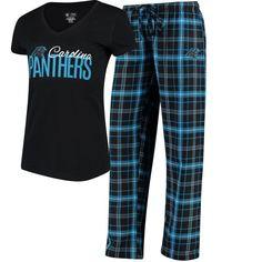 Women s Carolina Panthers Concepts Sport Black Blue Halftime T-Shirt and  Pants Set 5baa8207b