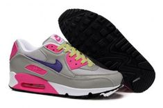 Nike Air Max 90 Womens Cool Grey/Purple-Pink-Volt Shoes