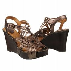Fossil Harmony Huarache Wedg Shoes (Brown Metallic) - Women's Shoes - 7.0 M