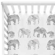 Gray & White Marble Elephant Parade Crib Bedding gray and white fitted elephant nursery crib sheet Elephant Nursery Bedding, Elephant Themed Nursery, Crib Bedding Boy, Nursery Crib, Crib Sheets, Comforter, Elephant Room, Baby Sheets, Safari Nursery