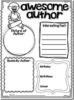 Author of the Month Yearly Plan {First Grade Garden