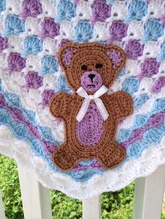 The first crochet pattern I've seen for a decent teddy bear applique!!!