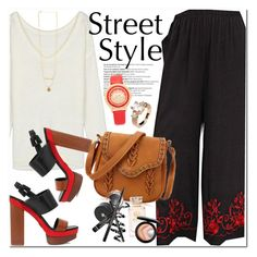 """""""Street Style"""" by oshint ❤ liked on Polyvore featuring Balmain, Michael Kors, Tory Burch, MAC Cosmetics, awesome, beautiful, BangGood and culottes"""