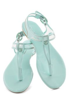 Gotta love that beachy Roman Goddess feeling :D.  I Can Sea Clearly Sandal, #ModCloth