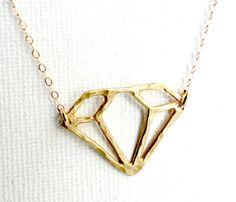 Diamond Cutout Necklace
