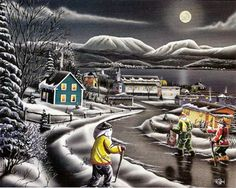 Rod Hand is a Newfoundland artist who has produced many unique paintings that deal with Newfoundland outports and scenes. Mummers Parade, Newfoundland And Labrador, Unique Paintings, Naive Art, Local Artists, Beautiful Islands, Illustrations, Artist Painting, Painted Rocks