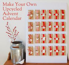 Maiko Nagao: DIY: Upcycled toilet paper roll advent calendar by North Story Diy Christmas Gifts, Christmas Projects, Christmas Themes, Christmas Holidays, Advent Calander, Diy Advent Calendar, Homemade Advent Calendars, Advent Season, Xmas Stockings