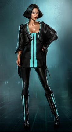 "Concept art of a citizen by Steve Jung from ""Tron: Legacy"" (2010)."